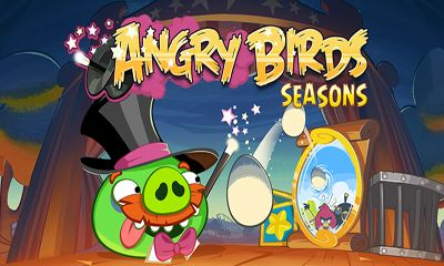 Скриншот игры Angry Birds Seasons: Abra-Ca-Bacon для Android.