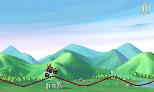 Скриншот игры Bike Race Pro by T. F. Games для Android.