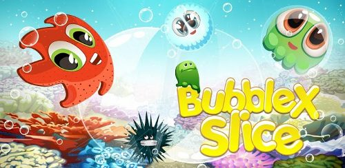 Gameplay игры bubble x slice скриншоты ломтик