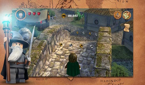 Скриншот игры LEGO The Lord of the Rings для Android.