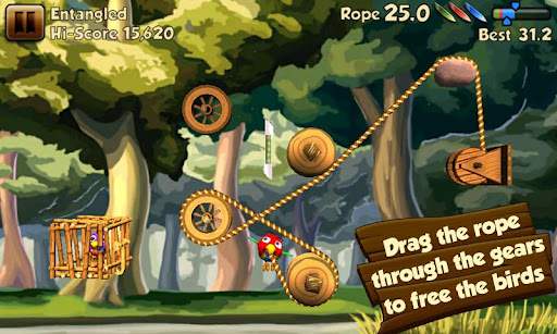 Скриншот игры Rope Rescue для Android.