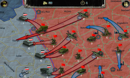 Скриншот игры Strategy and Tactics: World War II для Android.