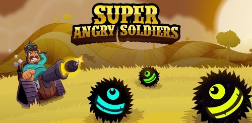Скриншот игры Super Angry Soldiers для Android.