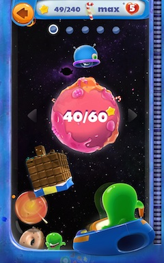 Скриншот игры Sweets Mania Space Quest для Android.